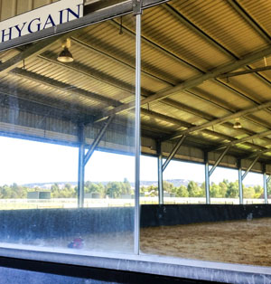 Horse arena hard water staining