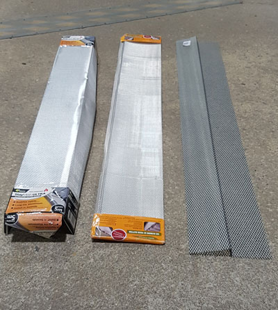 profiled steel gutter guard